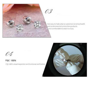 2PCSTitanium Steel Earrings for Men Stainless Steel Earrings for Women Men Earrings Diamond Earrings