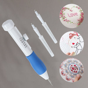 Embroidery Pen Embroidery Needle Weaving Tool Fancy Art Handmaking Sewing Poking Cross Stitch Tools Crochet Knitting Needle