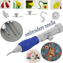 Load image into Gallery viewer, Embroidery Pen Embroidery Needle Weaving Tool Fancy Art Handmaking Sewing Poking Cross Stitch Tools Crochet Knitting Needle