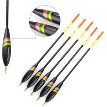 Load image into Gallery viewer, 5pcs/set Mixed Size Bobber Cork Vertical Float For Carp Fishing Float