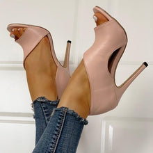 Load image into Gallery viewer, 3 Colors New Fashion Women High Heel Summer Sandals Ladies Party Wear Open Toe Shoes Slip on Shoes