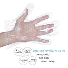 Load image into Gallery viewer, 100Pcs/Set Disposable Clear PE Work Gloves Protective Gloves Disposable Gloves