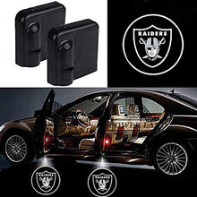 Load image into Gallery viewer, For Rugby Team Oakland Raiders Logo Car Door Led Welcome Laser Projector Car Door Courtesy Light Suitable Fit for All Brands of Cars