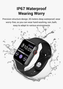 Newest Bluetooth Smart Watch Body Immunity Monitoring Temperature Measurement Heart Rate Monitor for IOS Android Phone Bracelet Watch Waterproof Smart Watch PK Watch Series 5