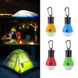 3 LED Tent Hanging Lamp 3 Modes Outdoor Fishing Camping Hiking Lights SOS Emergency Travel Carabiner Bulb