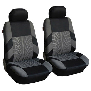2/4/9Pcs Car Seat Covers Set Universal Fit Most Cars Covers With Tire Track Detail Styling Car Seat