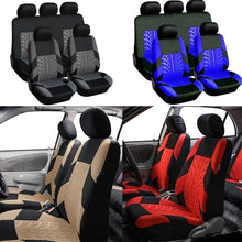 Load image into Gallery viewer, 2/4/9Pcs Car Seat Covers Set Universal Fit Most Cars Covers With Tire Track Detail Styling Car Seat