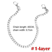 Load image into Gallery viewer, 1 Piece Hip-hop Trendy Belt Waist Chain Keychain Punk Waist Chain Metal Rock Clip Chain