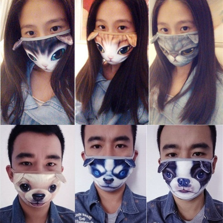 1 Pc Cute Cotton Dustproof Face Mask 3D Cat Printed Men and Women funny Masks