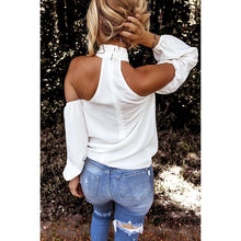 Load image into Gallery viewer, 2020 Women Blouse Casual Shirt Plus Size S-5XL Women Fashion Fashion Solid Color Sexy Halter Tops Loose Long Sleeve Off Shlouder