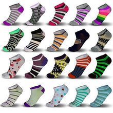 Load image into Gallery viewer, 20-Pair Mystery Deal: Women s Breathable Colorful No Show Low Cut Ankle Socks