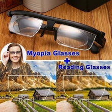 Load image into Gallery viewer, Adjustable Degree Glasses Universal Focus Correction Myopia Presbyopic Glasses Zoom Reading Glasses Magnifier