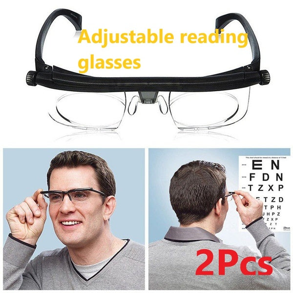 Adjustable Degree Glasses Universal Focus Correction Myopia Presbyopic Glasses Zoom Reading Glasses Magnifier