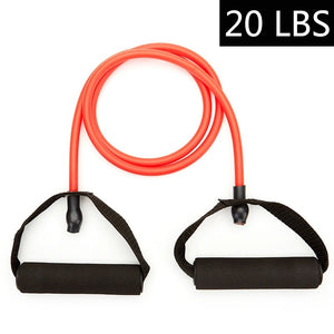 10~100LBS Indoor Fitness Elastic Rope Resistance Bands Yoga Exercise Fitness Band Rubber Loop Tube Bands with Ankle Straps,handles,door Anchor and Carrying Bag