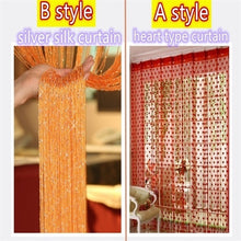 Load image into Gallery viewer, 200cm(H)*100cm(W) 1PC Fly Screen Fringe Tassel Curtain String Sparkle Curtains Room Divider Door Window Decor Heart curtain / Silver String curtain