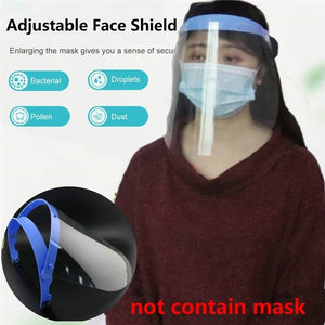 1 PCS Transparent Anti Droplet Dust-proof Protect Full Face Covering Mask Visor Shield Saliva -proof Windproof Face Shield
