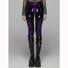 Load image into Gallery viewer, Punk Rave Black Gothic Punk Latex Slim Pants For Women