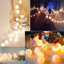 Load image into Gallery viewer, 2020 New Cotton Ball Fairy 20 LEDs String Light Holiday Wedding Party Patio Christmas Decor Light 3M