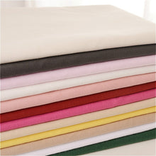 Load image into Gallery viewer, 100% Plain Solid Cotton Fabric Cloth Lining 100*140cm DIY White Black Red Pink