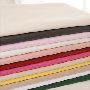 100% Plain Solid Cotton Fabric Cloth Lining 100*140cm DIY White Black Red Pink