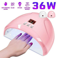 Load image into Gallery viewer, 36W UV Lamp Nail Polish Dryer LED Light USB Cable Drying Fingernail Gel Manicure Mini Nail Dryer Manicure Tools for Women Girls