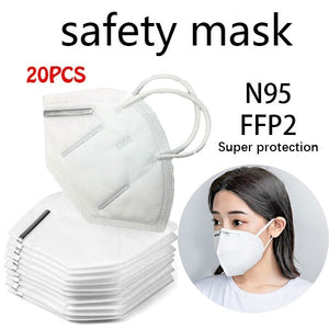 KN95 Soft Face Mouth Mask Medical KN95 N95 PM2.5 Antibacterial Protection Masks 5/10/20PCS