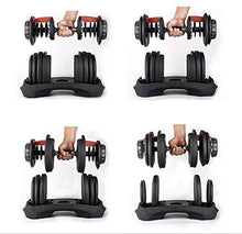 Load image into Gallery viewer, ONE SelectTech 552 Adjustable Dumbbell(5 To 52.5lb)15-speed Fast Automatic Dumbbell Adjustment Function for Exercise, Can Improve Physical Fitness