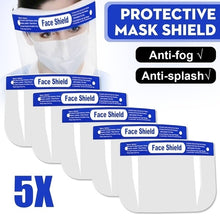 Load image into Gallery viewer, 5pcs/10pcs/20pcsTransparent Adjustable Full Face Clear Protective Mask Film Shield Plastic Anti-fog Safety