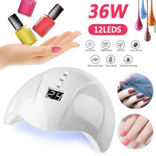 Load image into Gallery viewer, TypeA 36W 12LEDS USB UV LED Lamp/TypeB 54W 36LEDS US/EU Plug LED Lamp Quick-drying Nail Dryer Lamp for Gel Varnish Nail Decora