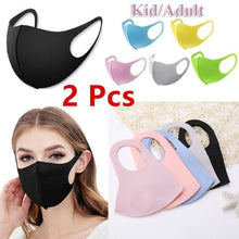 Load image into Gallery viewer, 2Pcs Kid Adult Washable Earloop Mask Outdoor Cycling Anti Dust Mouth Face Mask Adult Kids Health Dustproof Anti-Dust Cold Prevention Mask