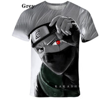 Load image into Gallery viewer, New Style kids Fashion t shirt Anime Naruto  Kakashi 3D Printed kids Cartoon Short Sleeved  T-shirt
