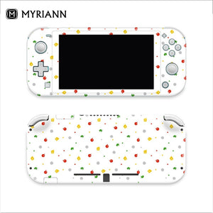 (Uper Version )Cute Pattern 3M Premium Vinyl Gradient Color Pastel Skin for Nintend Switch Lite Switch Sticker