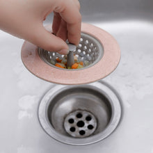 Load image into Gallery viewer, Silicone Kitchen Strainer Sewer Filter Drainage Silicone Strong Suckers Bathroom Sink Hair Tool Colander Sewer Hair Filter Strainer