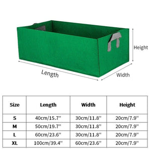 1/2/3 PCS Fabric Raised Garden Bed Square Garden Flower Grow Bag Vegetable Planting Bag Planter Pot With Handles For Plants Flowers Vegetables