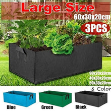 Load image into Gallery viewer, 1/2/3 PCS Fabric Raised Garden Bed Square Garden Flower Grow Bag Vegetable Planting Bag Planter Pot With Handles For Plants Flowers Vegetables