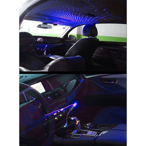 Car Star Light Projector Light Romantic Car Roof Lights Red Blue Purple Car Atmosphere Light Car Decoration USB Plug