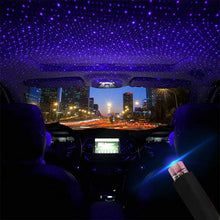 Load image into Gallery viewer, Car Star Light Projector Light Romantic Car Roof Lights Red Blue Purple Car Atmosphere Light Car Decoration USB Plug