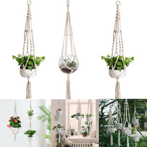 8 Styles Plant Hanger Braided Hanging Planter Basket Rope Macrame Pot Holder String