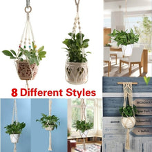 Load image into Gallery viewer, 8 Styles Plant Hanger Braided Hanging Planter Basket Rope Macrame Pot Holder String