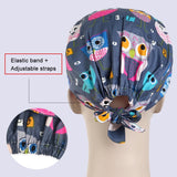 1pc Cartoon Printed Cute Scrub Caps High Quality Gourd Hat Clinic Hospital Dental Laboratory Pharmacy Cap