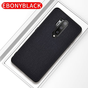 Thin Matte Feeling Cloth Phone Bag Case for Oneplus 8 Pro 7 7T 6 6T Anti-sweat Shockproof Back Cover Coque