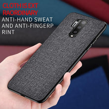 Load image into Gallery viewer, Thin Matte Feeling Cloth Phone Bag Case for Oneplus 8 Pro 7 7T 6 6T Anti-sweat Shockproof Back Cover Coque