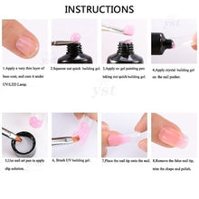 Load image into Gallery viewer, Poly Extension Gel Kits with 6W USB LED Lamp French Nail Tip Crystal UV Building Gel Set