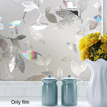 Load image into Gallery viewer, 1pc transparent Static Window Film Office Cling PVC 3D Tulip Privacy Kitchen Decorative No Glue
