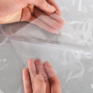 1pc transparent Static Window Film Office Cling PVC 3D Tulip Privacy Kitchen Decorative No Glue