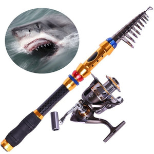 Carbon Telescopic Fishing Rod Pole OR 13BB Full Metal Spinning Reel Fishing Rods/Reels