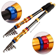 Load image into Gallery viewer, Carbon Telescopic Fishing Rod Pole OR 13BB Full Metal Spinning Reel Fishing Rods/Reels