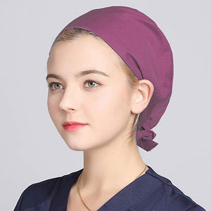 Medical Surgical Cap Frosted Cap Physician Bouffant Headscarf Cap Sweat-proof Male and Female Caps