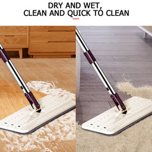Load image into Gallery viewer, Hand-Free Flat Squeegee Mop Bucket  Wringing Floor Cleaner [5/10/15Pads Only] Or [Mop+Bucket+4Pads Set]