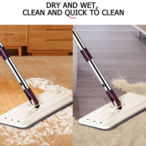 Hand-Free Flat Squeegee Mop Bucket  Wringing Floor Cleaner [5/10/15Pads Only] Or [Mop+Bucket+4Pads Set]
